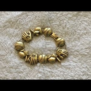 Jewelry - Baseball Goldtone Bracelet